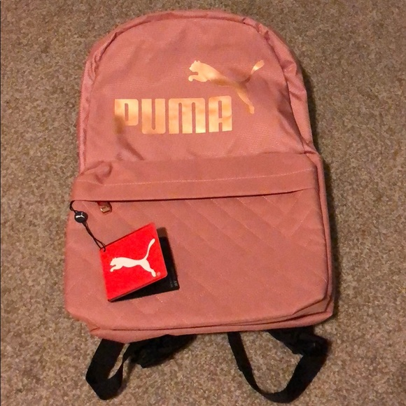 f5e897a3b89c Women s Puma Backpack with Rose Gold logo - New
